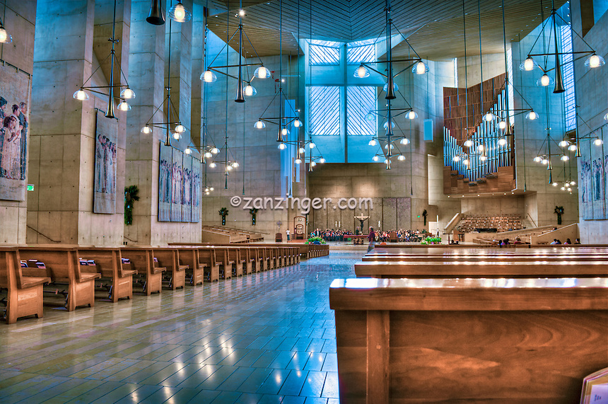 Cathedral of Our Lady of the Angels,  Church Interior, Los Angeles, CA, Downtown, City, church, Spanish architect, Rafael Moneo,