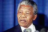 Washington, D.C. - June 25, 1990 -- Nelson Mandela, leader of the African National Congress (ANC) holds a press conference after meeting with United States President George H.W. Bush at the White House on Monday, June 25, 1990. .Credit: Ron Sachs / CNP