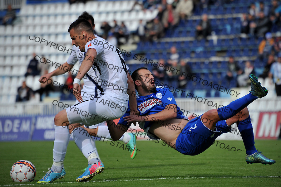 Fudbal Super liga season 2015-2016<br /> Novi Pazar v Rad<br /> Jovica Vasilic (D) i Zoran Ljubinkovic (L)<br /> Novi Pazar, 28. 4. 2016<br /> foto: Emir Sadovic/Starsportphoto &copy;