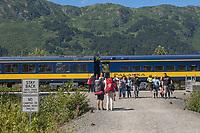 Alaska Railroad, Chugach National Forest, Alaska.
