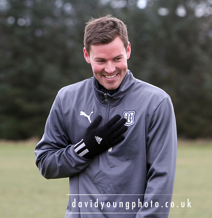Andrew Barrowman (14) trains with his new Dundee team-mates for the