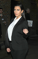 The Kardashian's Visit Late Show with David Letterman NY