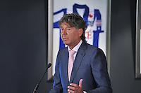 VOETBAL: ABE LENSTRA STADION: HEERENVEEN: 27-08-2013, Presentatie nieuw Stichtingsbestuur, Anne Hettinga (int. Voorzitter), ©foto Martin de Jong