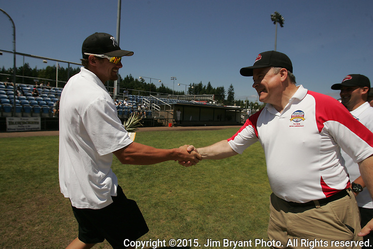WA. vs. HI in game 2 of the 2015 West Central District 2 BLBB playoffs at Blue Jacket Stadium in Silverdale Washington. ©2015. Jim Bryant photo. All Rights Reserved.