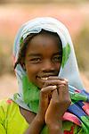 A displaced girl in Darfur.