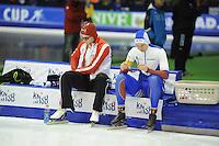 SCHAATSEN: HEERENVEEN: 14-12-2014, IJsstadion Thialf, ISU World Cup Speedskating, Laurent Dubreuil (CAN), Pavel Kulizhnikov (RUS), ©foto Martin de Jong