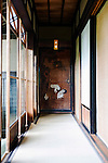Photo shows  the corridor leading to the tea room just off the first floor reception room of the main building of the Honma Museum of Art in Sakata, Yamagata Prefecture, Japan, on July 06, 2012. Construction of the  reception room was started around 200 years ago. Photographer: Robert Gilhooly