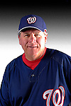 25 February 2007: Washington Nationals coach Spin Williams poses for his Photo Day portrait at Space Coast Stadium in Viera, Florida.<br /> <br /> Mandatory Photo Credit: Ed Wolfstein Photo<br /> <br /> Note: This image is available in a RAW (NEF) File Format - contact Photographer.