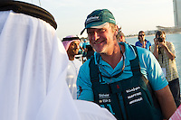 UAE. 4th January 2012. Volvo Ocean Race, Leg 2, arrival into Abu Dhabi. Arrivals ceremony.  Neal McDonald, Team Telefonica.