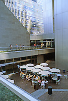 New York: Citicorp Center. St. Peter's Church on left. Entrance plaza.