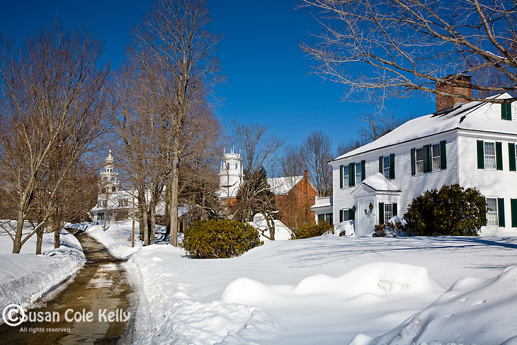 Jaffrey Center with snow, Jaffrey, NH, USA