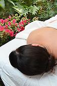 Stock photo of a woman enjoying holistic treatment