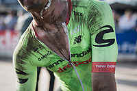 A dust-mudded Dylan van Baarle (NED/Cannondale-Drapac) post-race<br /> <br /> 115th Paris-Roubaix 2017 (1.UWT)<br /> One Day Race: Compi&egrave;gne &rsaquo; Roubaix (257km)