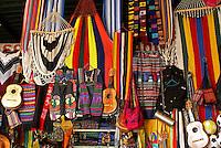 Salvadoran handicrafts for sale in the Excuartel Market in downtown San Salvador, El Salvador