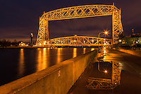 &quot;Puddle Play&quot;<br /> <br /> The Aerial Lift Bridge was playing in the puddles during twilight, when it thought nobody was watching.