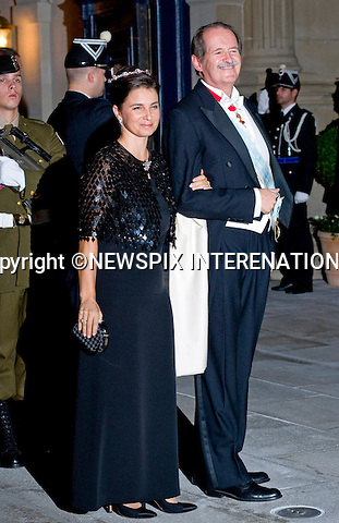 "DUKE AND DUCHESS OF BRAGANCE.Wedding of HRH the Hereditary Grand Duke and Countess Stéphanie de Lannoy.Gala Dinner at the Grand-Ducal Palace, Luxembourg_19-10-2012.Mandatory credit photo: ©Dias/NEWSPIX INTERNATIONAL..(Failure to credit will incur a surcharge of 100% of reproduction fees)..                **ALL FEES PAYABLE TO: ""NEWSPIX INTERNATIONAL""**..IMMEDIATE CONFIRMATION OF USAGE REQUIRED:.Newspix International, 31 Chinnery Hill, Bishop's Stortford, ENGLAND CM23 3PS.Tel:+441279 324672  ; Fax: +441279656877.Mobile:  07775681153.e-mail: info@newspixinternational.co.uk"