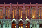 Suzzallo Library on the University of Washington campus at Red Square twilight Seattle Washington State USA