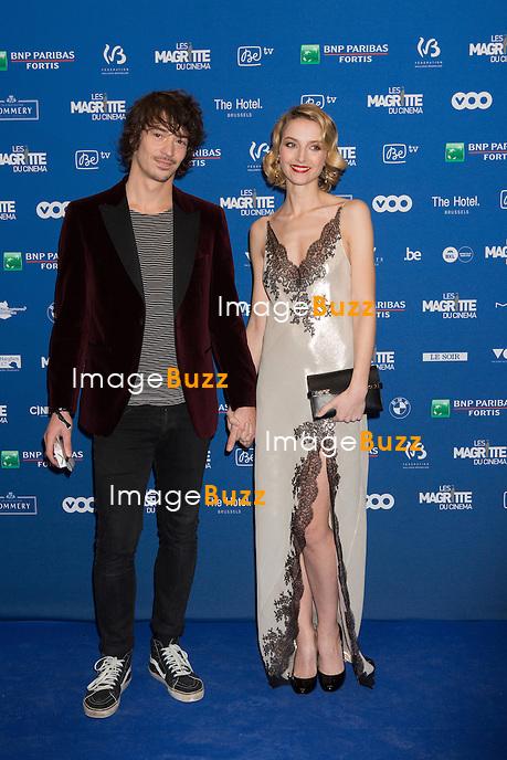 St&eacute;phanie Crayencour  &amp; Hadrien Lavogez : 7&egrave;me C&eacute;r&eacute;monie des Magritte du Cin&eacute;ma, qui r&eacute;compense le septi&egrave;me art belge, au Square, &agrave; Bruxelles.<br /> 7th edition of the Magritte du Cinema awards ceremony.<br /> Belgium, Brussels, 4 February 2017