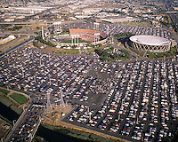 Oakland-Alameda County Coliseum and Arena. <br />(1989 photo/Ron Riesterer)