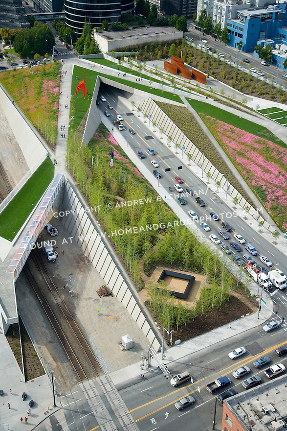 Aerial View Of Seattle Art Museum 39 S Olympic Sculpture Park