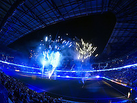 Fireworks after the match. The New York Red Bulls and the Philadelphia Union played to a 0-0 tie during a Major League Soccer (MLS) match at Red Bull Arena in Harrison, NJ, on August 17, 2013.