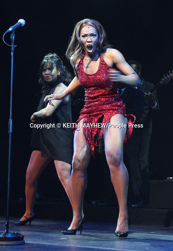 London - Emi Wokoma (Tina Turner) & Chris Tummings (Ike Turner) in the musical 'Soul Sister' at the Hackney Empire, London - April 17th 2012..Photo by Keith Mayhew