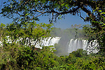 South America, Argentina, Iguacu Falls in sun.
