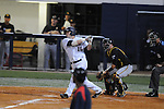 Mississippi's Matt Smith hits a three-run home run vs. Southern Mississippi at Oxford-University Stadium in Oxford, Miss. on Tuesday, April 20, 2010. Ole Miss won 7-2.