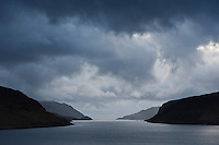 Stormy weather over Loch Seaforth, Isle of Lewis, Western Isles, Scotland