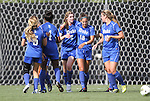 09 September 2011: Duke's Kelly Cobb (9) celebrates her goal with Kaitlyn Kerr (5), Natasha Anasi (4), Laura Weinberg (16) and Nicole Lipp (10). The Duke University Blue Devils defeated the Texas A&M Aggies 7-2 at Koskinen Stadium in Durham, North Carolina in an NCAA Division I Women's Soccer game.