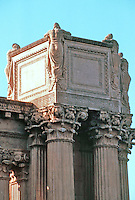 """Bernard Maybeck: Palace of Fine Arts--detail.  """"Eloquest expression to the mood of melancholy"""".  Photo '83."""