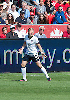 02 June 2013: U.S Women's National Soccer Team midfielder Heather O'Reilly #9 in action during an International Friendly soccer match between the U.S. Women's National Soccer Team and the Canadian Women's National Soccer Team at BMO Field in Toronto, Ontario.<br /> The U.S. Women's National Team Won 3-0.