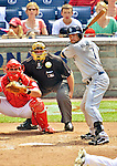 29 May 2011: San Diego Padres third baseman Chase Headley at bat against the Washington Nationals at Nationals Park in Washington, District of Columbia. The Padres defeated the Nationals 5-4 to take the rubber match of their 3-game series. Mandatory Credit: Ed Wolfstein Photo
