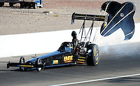 Apr. 4, 2009; Las Vegas, NV, USA: NHRA top fuel dragster driver Troy Buff during qualifying for the Summitracing.com Nationals at The Strip in Las Vegas. Mandatory Credit: Mark J. Rebilas-