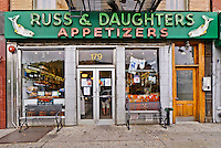 Russ & Daughters an appetizing store, East Houston Street, Lower East Side,Manhattan, New York City, New York, USA