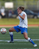 Boston Breakers defender Elli Reed (7) at midfield. In a Women's Premier Soccer League Elite (WPSL) match, the Boston Breakers defeated Western New York Flash, 3-2, at Dilboy Stadium on May 26, 2012.