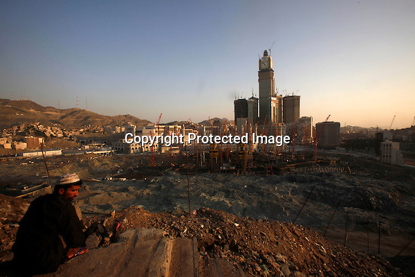 A Picture shows construction of new luxury towers and hotels around the Haram mosque and Kaaba, in Mecca, Saudi Arabia taken on December 02, 2010. (Salah Malkawi for The New York Times)