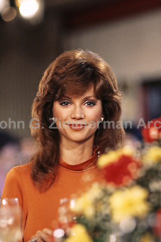 "Victoria Principal as Pam Ewing, ""Dallas"" South Fork Ranch, Texas, 1980. Photo by John G. Zimmerman."