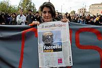 Roma  7  Novembre 2008.Manifestazione degli Studenti contro la riforma sulla scuola e  la legge 133 sull'università...Student demonstration against the reform on school and law 133 ..