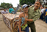 A band of locals masquerading as illegal loggers and charcoal manufacturers made some of the more exuberant displays at Dayurejo's conservation carnival.