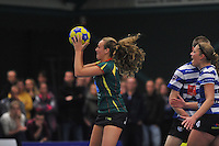 KORFBAL: GORREDIJK: Sport- en Ontspanningscentrum Kortezwaag, 27-11-2013, LDODK - AKC BLAUW WIT, Eindstand 25-28, Jildou Slagmann (#4   LDODK), ©foto Martin de Jong