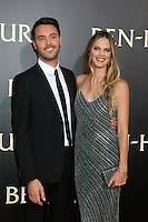 "HOLLYWOOD, CA - AUGUST 16: Jack Huston, Shannan Click at the LA Premiere of the Paramount Pictures and Metro-Goldwyn-Mayer Pictures title ""Ben-Hur"", at the TCL Chinese Theatre IMAX on August 16, 2016 in Hollywood, California. Credit: David Edwards/MediaPunch"