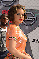 LOS ANGELES, CA - JUNE 26: Andra Day at the 2016 BET Awards at the Microsoft Theater on June 26, 2016 in Los Angeles, California. Credit: David Edwards/MediaPunch