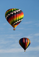 .Hot air balloons rise overhead during the annual Carolina BalloonFest, held each fall in Statesville, NC. Photos were taken at the October 2008 event...For more information, visit www.carolinaballoonfest.com.