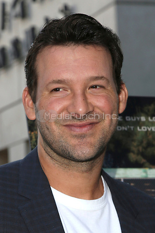HOLLYWOOD, CA - JULY 11: Tony Romo at the premiere of Undrafted at the Arclight in Hollywood, California on July 11, 2016. Credit: David Edwards/MediaPunch