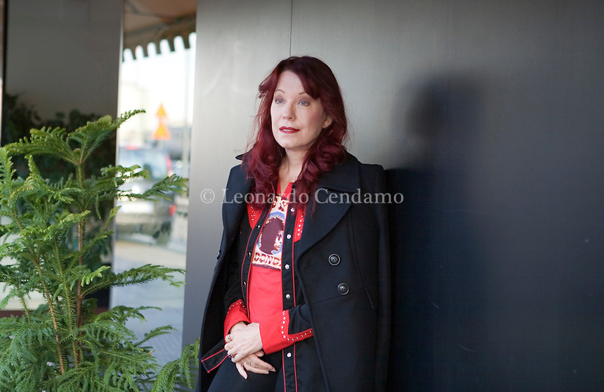 Milan, Italy, 2007. Pamela Des Barres, one of the most famous rock and roll groupie of the 60's and writer. Ms Des Barres was born in California and lives actually in Los Angeles.