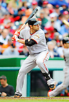 1 May 2011: San Francisco Giants infielder Freddy Sanchez in action against the Washington Nationals at Nationals Park in Washington, District of Columbia. The Nationals defeated the Giants 5-2. Mandatory Credit: Ed Wolfstein Photo