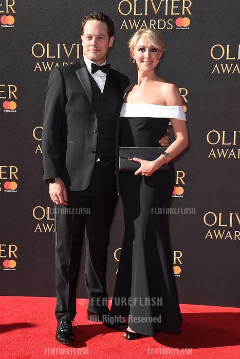Ali Bastian &amp; David O'Mahony at The Olivier Awards 2017 at the Royal Albert Hall, London, UK. <br /> 09 April  2017<br /> Picture: Steve Vas/Featureflash/SilverHub 0208 004 5359 sales@silverhubmedia.com