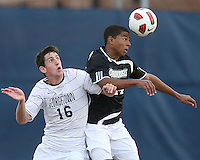 Jimmy Nealis #16 of Georgetown University loses the ball to Michael Daly #12 of Providence University during a Big East quarter-final  match at North Kehoe Field, Georgetown University on November 6 2010 in Washington D.C. Providence won 2-1.