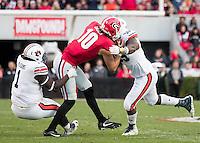 Athens, GA - November 12, 2016: The University of Georgia Bulldogs play the number 9 ranked Auburn Tigers at Sanford Stadium.  Final score UGA 13, Auburn 7.